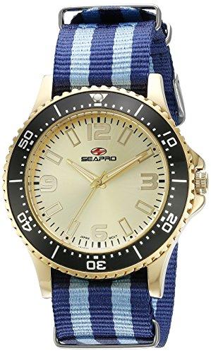 Seapro Herren sp5315nbl Analog Display Quarz Zweifarbige Armbanduhr