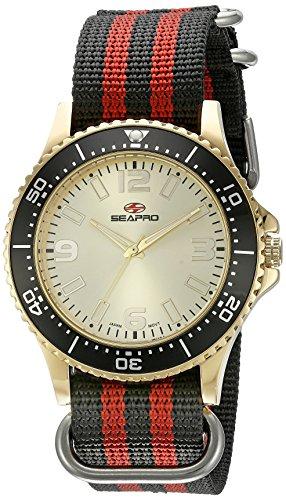 Seapro Herren sp5315nr Analog Display Quarz Zweifarbige Armbanduhr