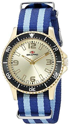 Seapro Damen sp5419nbk Analog Display Quarz Zweifarbige Armbanduhr