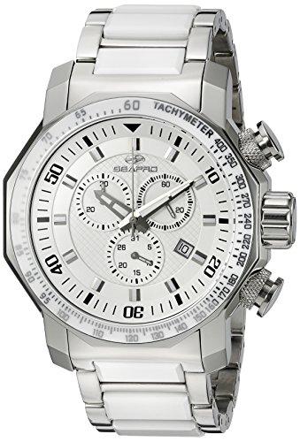 Seapro Herren sp6124 Coral Analog Display Swiss Quarz Zweifarbige Armbanduhr