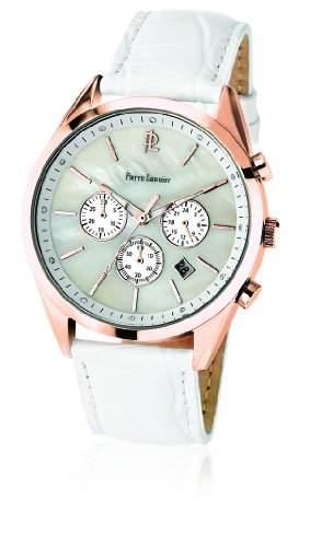 010L990 Pierre Lannier Damen-Armbanduhr Anastasie Quarz analog Leder Weiss