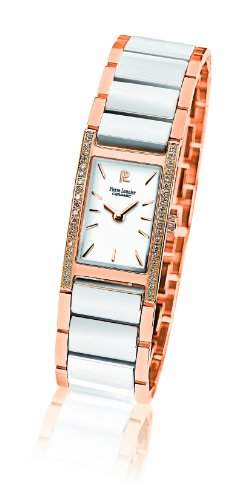 053G909 Pierre Lannier Damen-Armbanduhr Cindyrela Quarz analog Keramik Weiss