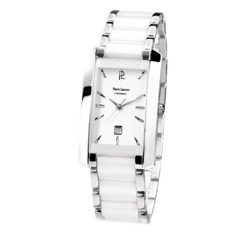 Pierre Lannier Damen-Armbanduhr Analog Edelstahl weiss 057G929