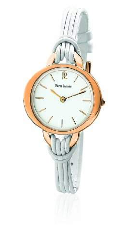 111G900 Pierre Lannier Damen-Armbanduhr Anastasie Quarz analog Leder Weiss