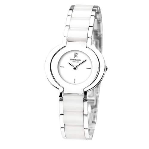 Pierre Lannier Damen-Armbanduhr Analog Keramik weiss 128K929