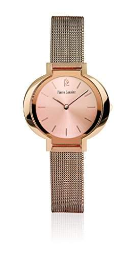 Pierre Lannier 141j998-Trend Damen-Armbanduhr-Quarz Analog-Zifferblatt Rosa Armband Stahl Rosa