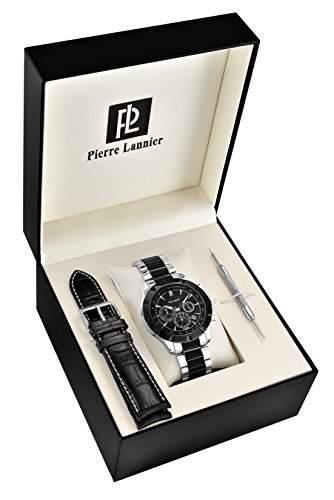 Pierre Lannier Herren Armbanduhr, Stahl, 45mm