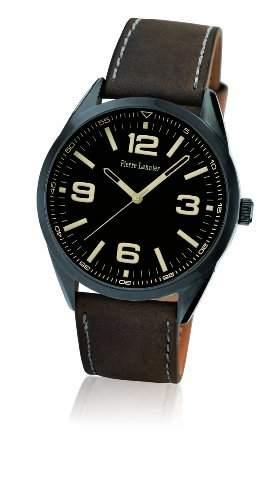 Pierre Lannier Herren-Armbanduhr Analog Quarz Leder 212D434