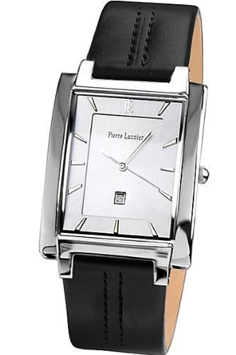 Pierre Lannier Herren-Armbanduhr Analog Quarz Leder 210D123