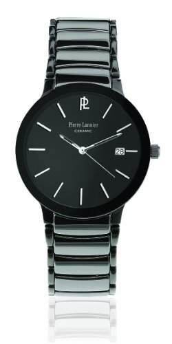 257F439 Pierre Lannier Herren-Armbanduhr Analog Keramik Schwarz