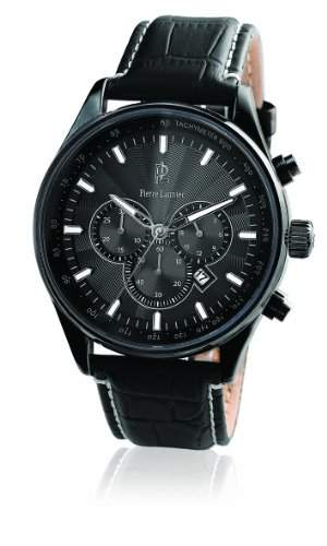 260D433 Pierre Lannier Herren-Armbanduhr Analog Leder Schwarz