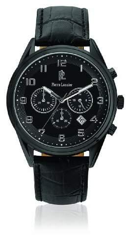 266C433 Pierre Lannier Herren-Armbanduhr Analog Leder Schwarz