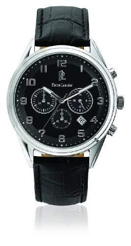 267C133 Pierre Lannier Herren-Armbanduhr Analog Leder Schwarz