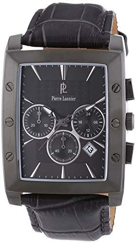 Pierre Lannier Herren-Armbanduhr Analog Quarz Leder 295C488