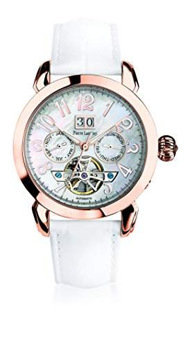 Pierre Lannier 315b990Damen-Armbanduhr-Automatische Analog-Ziffernblatt Perlmutt-Armband Leder Weiss