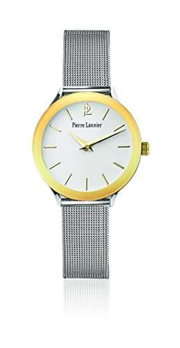 Pierre Lannier Damen-Armbanduhr Tendance Analog Quarz Silber 049C628