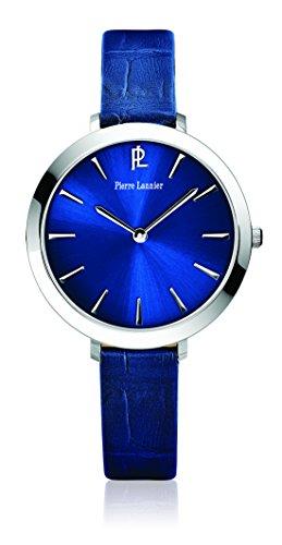 Pierre Lannier 011h666 Week End Basic Quarz Analog Zifferblatt Blau Armband Leder Blau