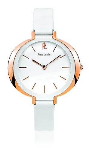 Pierre Lannier 035q900 Week End Linie Pure Quarz Analog Weisses Ziffernblatt Armband Leder Weiss