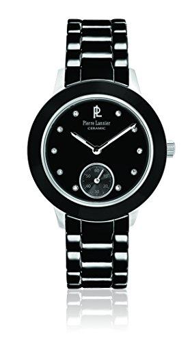 Pierre Lannier 064 K939 Elegance Keramik Damen Armbanduhr Quarz Analog Zifferblatt schwarz Armband Keramik Schwarz