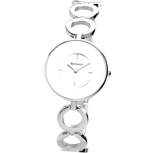 Pierre Lannier 087H601 045J699 Analog weiss Armband Stahl Silber