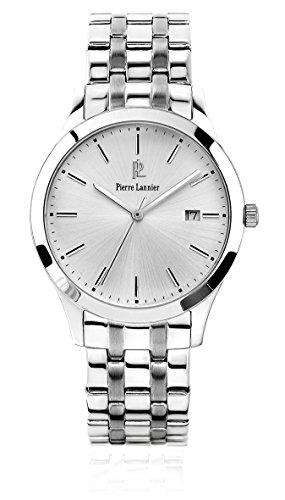Pierre Lannier 248 C121 Elegance Classic Armbanduhr Quarz Analog Zifferblatt Silber Armband Stahl Silber