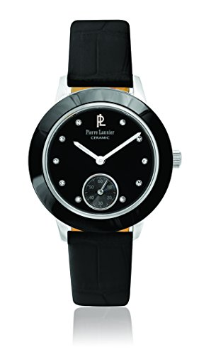 Pierre Lannier 062j633 Elegance Keramik Quarz Analog Zifferblatt schwarz Armband Leder schwarz