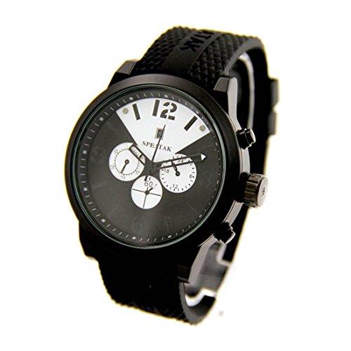 Zeigt Herren Trend Armband Silikon Schwarz Speatak 2058