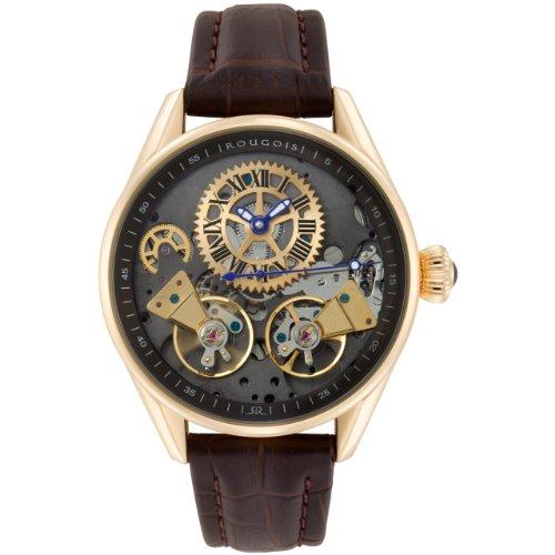 Rougois Mens Bronze Finish Regal Double Escapement Automatic Watch RS8390G