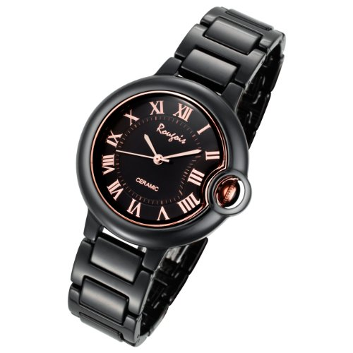 Rougois Ceramic Black Cloud Bulbous Watch Medium Size