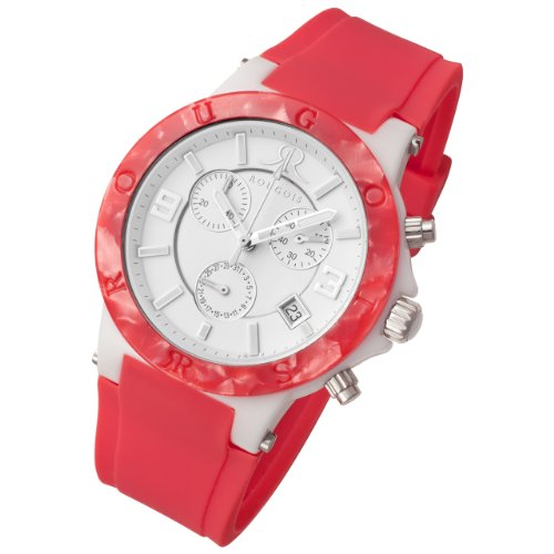 Rougois Pop Series Chronograph Watch Pink Colorful Silicone Band
