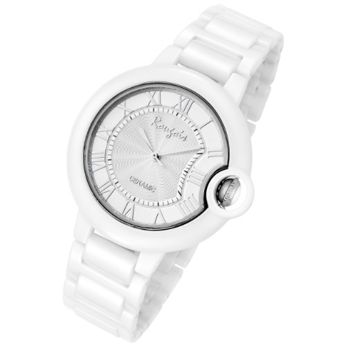 Rougois Cloud Ceramic Silver Stratus Watch Large Size