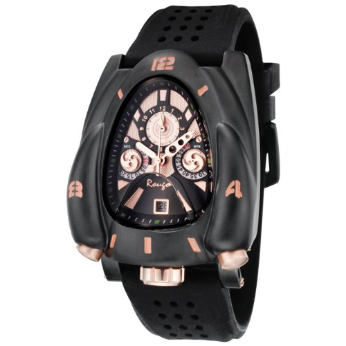 Rougois Galaxy Rocket Watch Black Rose Gold