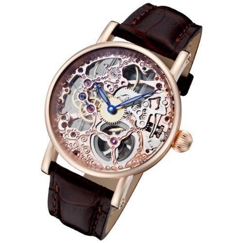 Rougois Rosarita Gold Mechanical Rose Gold Skeleton Watch RS10005