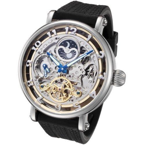 Rougois Skeleton Automatic Dual Time Zone Watch RASBKB