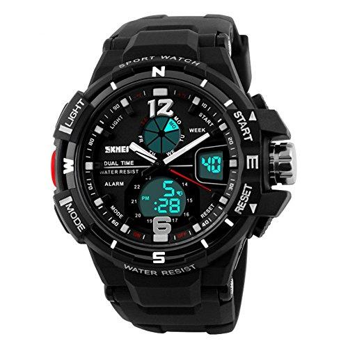 niubility 1148 Herren Analog Digital Quarz Sport Armbanduhren Blau