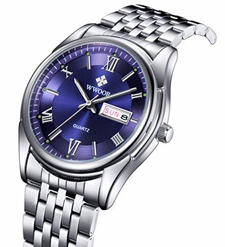 niubility 8802 Herren Edelstahl Business Armbanduhr