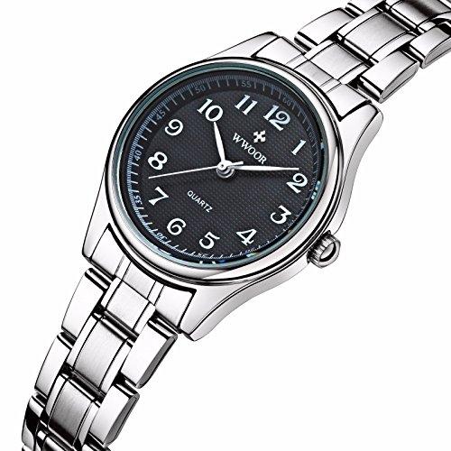 niubility 8805 Frauen Edelstahl Business Armbanduhr