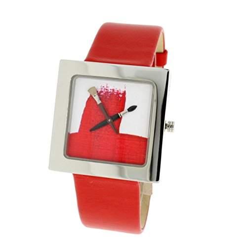 Akteo Themenuhr Paint 79570X, Armbandfarbe:Rot
