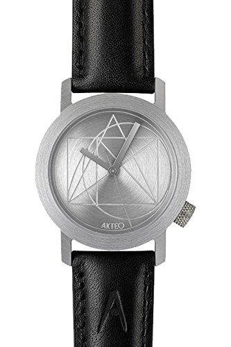 Akteo Uhr Goldener Schnitt 34 Durchmesser Lederarmband
