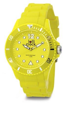 LOLLICLOCK wasserdichte Armbanduhr mit drehbaren Luenette sehr modern GELB