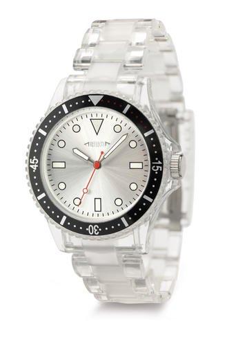 REFLECTS Armbanduhr mit drehbaren Luenette TREND Transparent