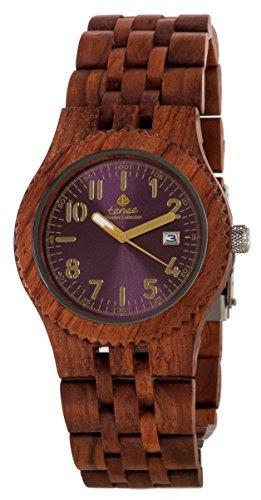 Gespannter Discovery Yukon Jumbo rund Palisander Holz Armbanduhr j5200r violett
