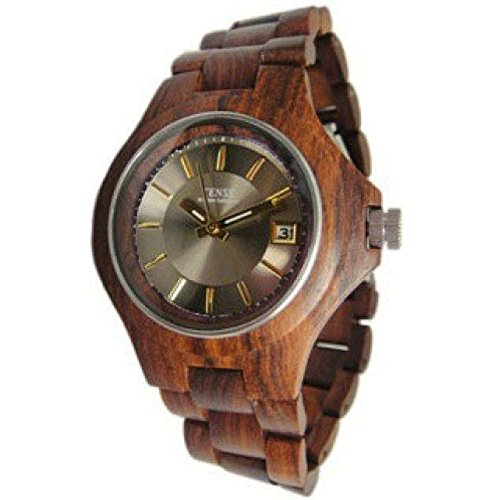 Gespannter Holz g4302s s g Herren Analog Holz Armbanduhr