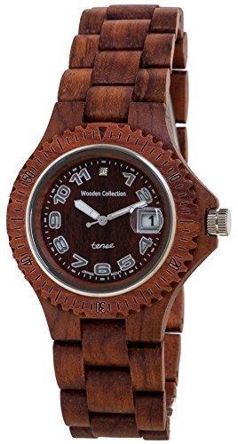 Gespannter Palisander Runde Analog Sport Armbanduhr aus Holz G4100R