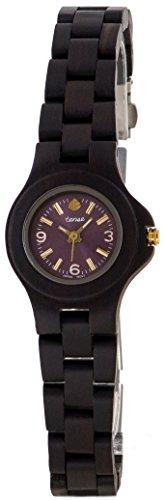 Gespannter Dark Sandelholz Mini Holz Nordwest rund Armband Armbanduhr L4300D violett