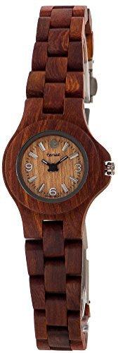 Gespannter Sandelholz rund Mini Nordwest Armband Armbanduhr L4300S Damen