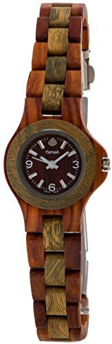 Gespannter Sandelholz Gruen Rund Mini Nordwest Armband Holz Armbanduhr l4300sg w Damen