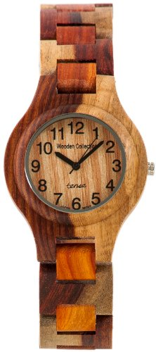 Tense Intarsien Multicolored Herren Wood Watch G7509I