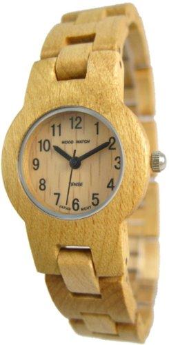 Tense Maplewood Runde Armband Einzigartiges Rare Wood Watch L7103M