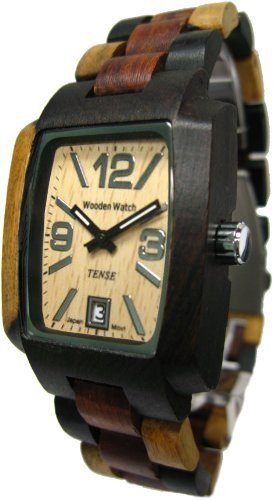 Tense Intarsien Multicolored Jumbo Herren Wood Watch J8102IDMQ LFLN